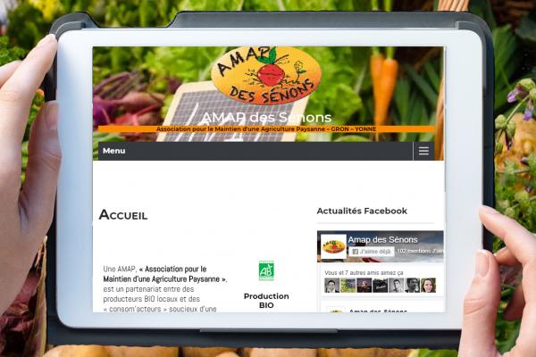 Page nouveau site